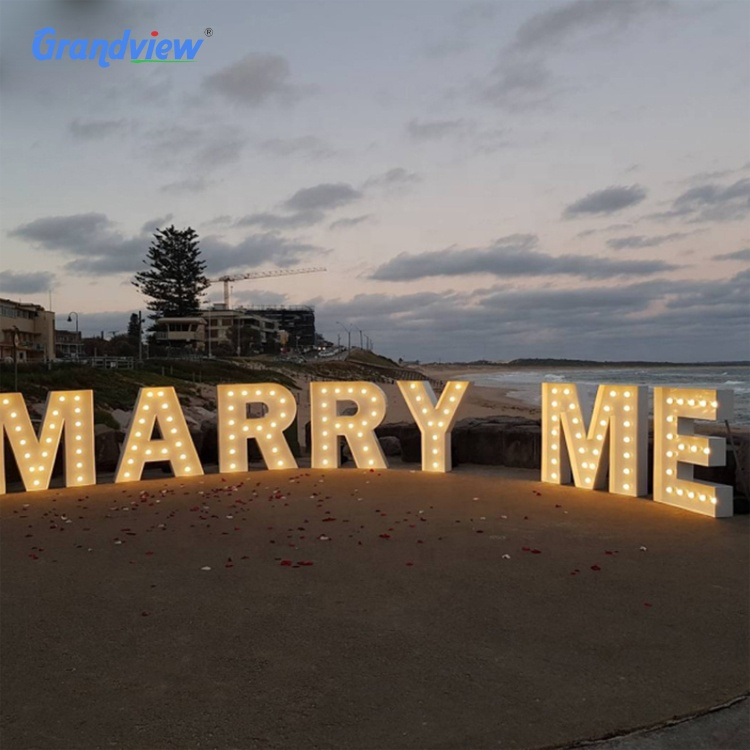 Wedding decoration led light marquee letters large marquee letters lights 4ft