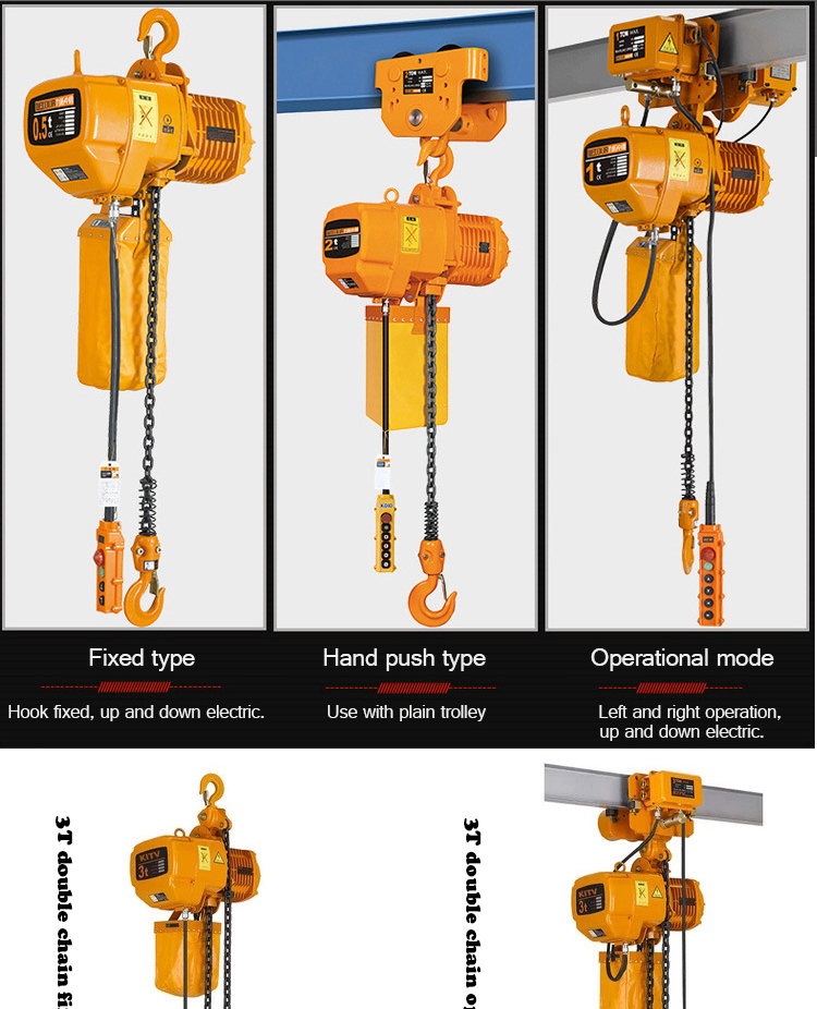 Explosion-proof tugger driven electric chain hoist ISO9001 made in China