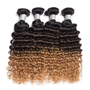 wholesale ali express new products human hair colored virgin hair vendors ombre 1b 4 27 virgin deep curly hair bundles
