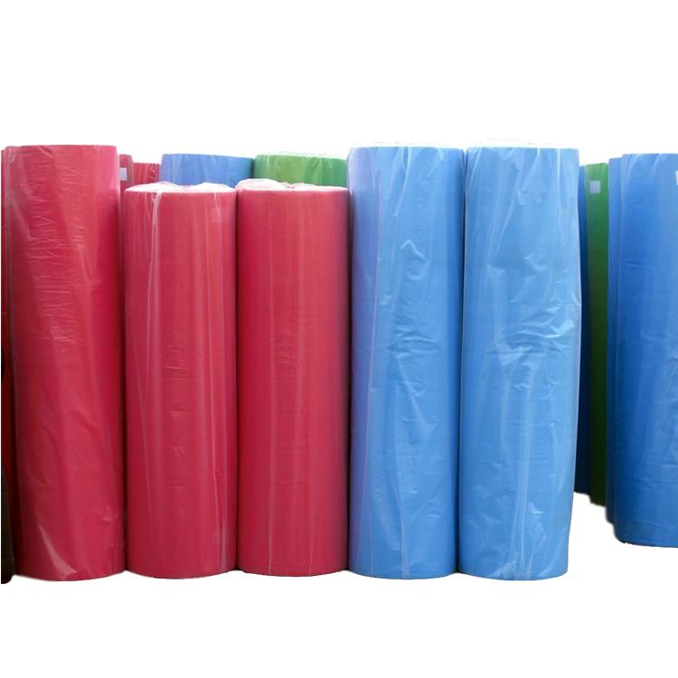 Wholesales 45 जीएसएम 160cm चौड़ाई spunbond कागज पीई टुकड़े टुकड़े रोल गैर बुना कपड़े