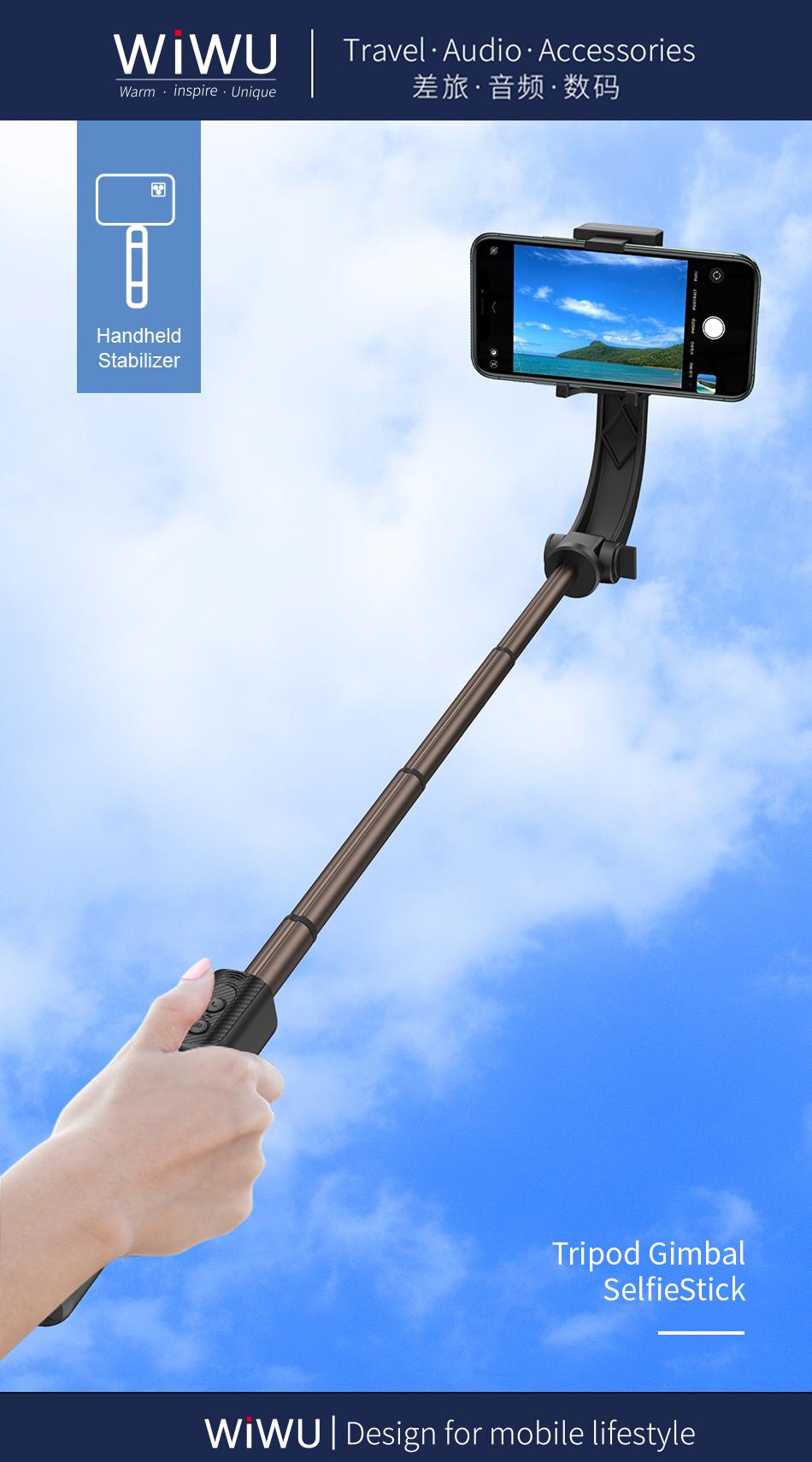 WIWU 手机自拍杆带蓝牙遥控 (https://www.wiwu.net.cn/) 手机支架 第4张