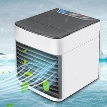 Портативный мини-кондиционер, 7 цветов, светодиодный USB-кулер, вентилятор воздушного охлаждения, перезаряжаемый вентилятор для офисной комн...(Китай)