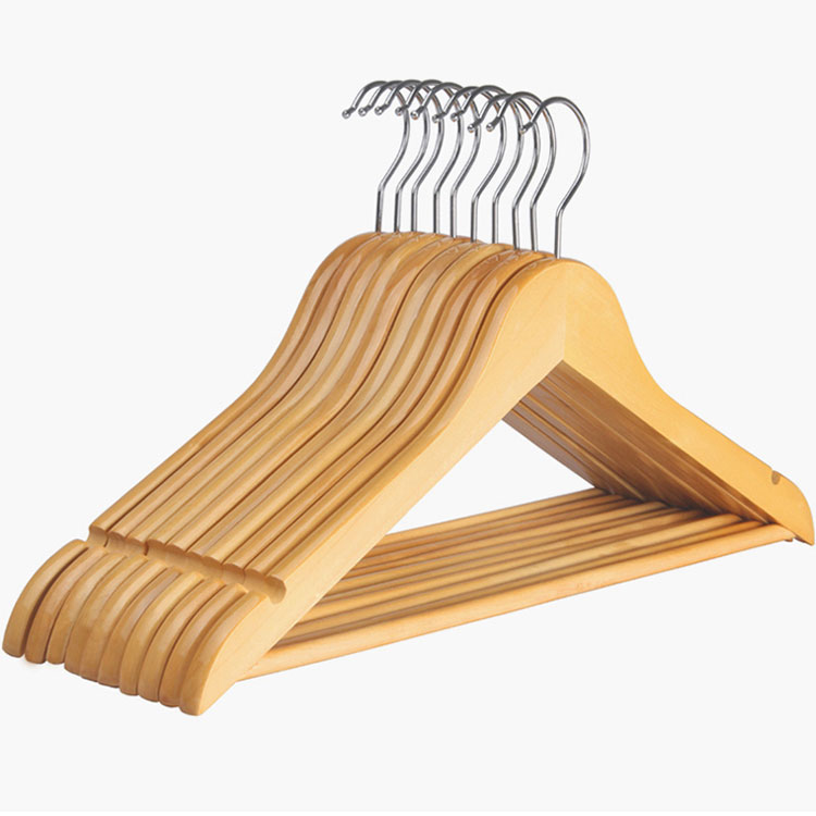 Custom-made decorative clothes coat diy baby mobile rack hanger solid on wood rods manufacturers