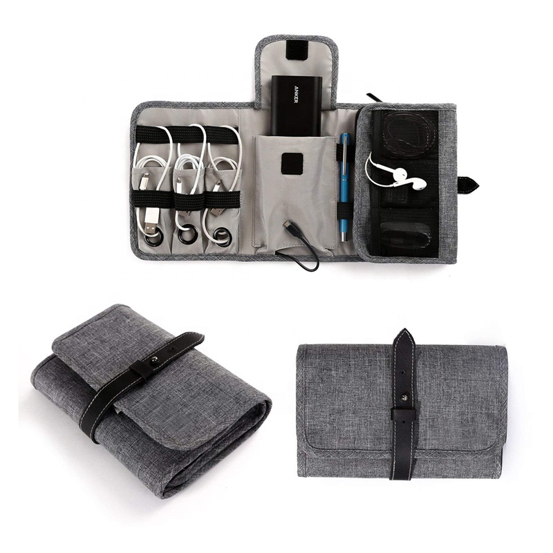 Wholesale Multi-function Roll Up Electronic Accessories Travel Cable Organizer
