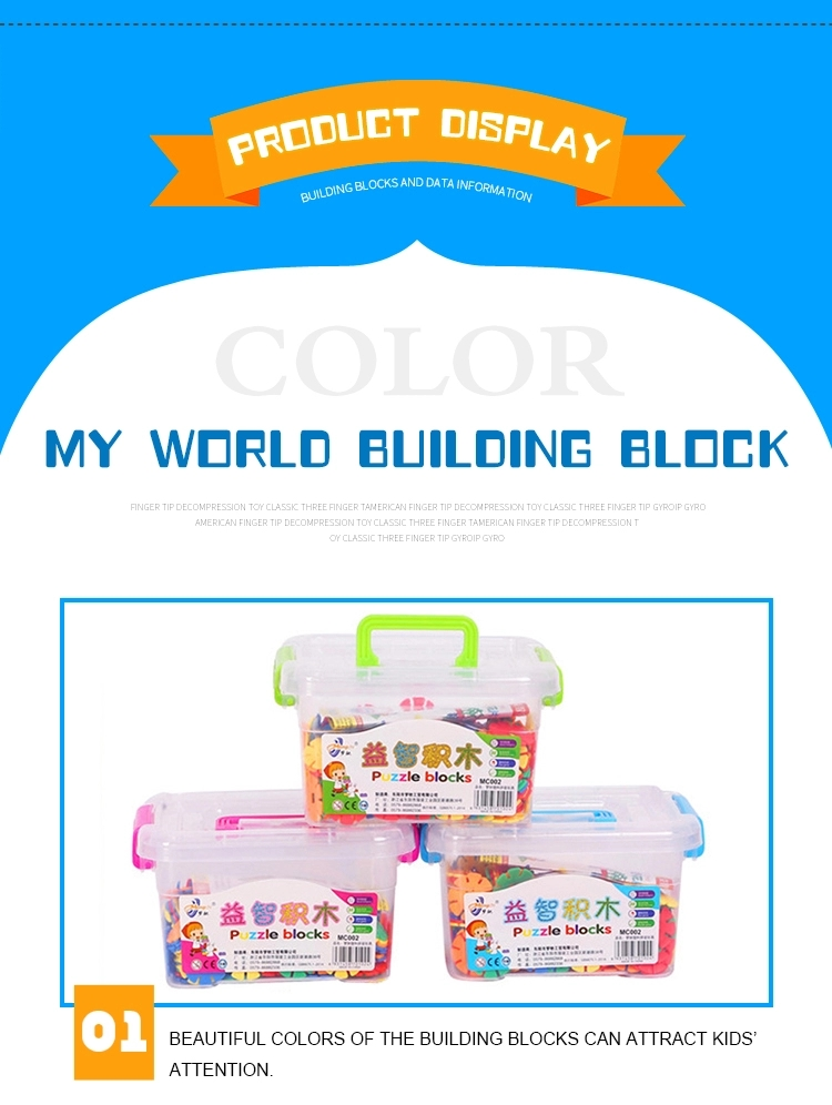 Kindergarten Large 3cm 400pcs Plastic DIY Inserts Snowflake Building Blocks IQ Game Puzzle Early Educational Toy For Kids