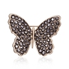 Charm Gift Pins Alloy Rhinestone Flower Butterfly Leaf Branch Wreath Brooch Jewelry For Women