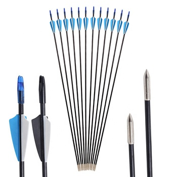 SPG Professional Fiberglass Shaft Arrow Target Archery Compound and Recurve Bow Hunting Shooting Set wholesale Cheap for sale