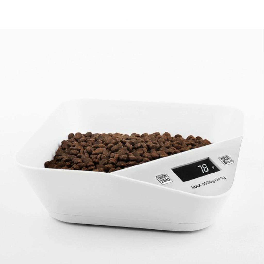Custom Logo Dog Dish Anti Slip Food Weighing Pet Electronic Dog Bowl Scale For Household Pet