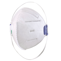 Industry white KN95 custom Dust respirator face mask Valve mouth protective