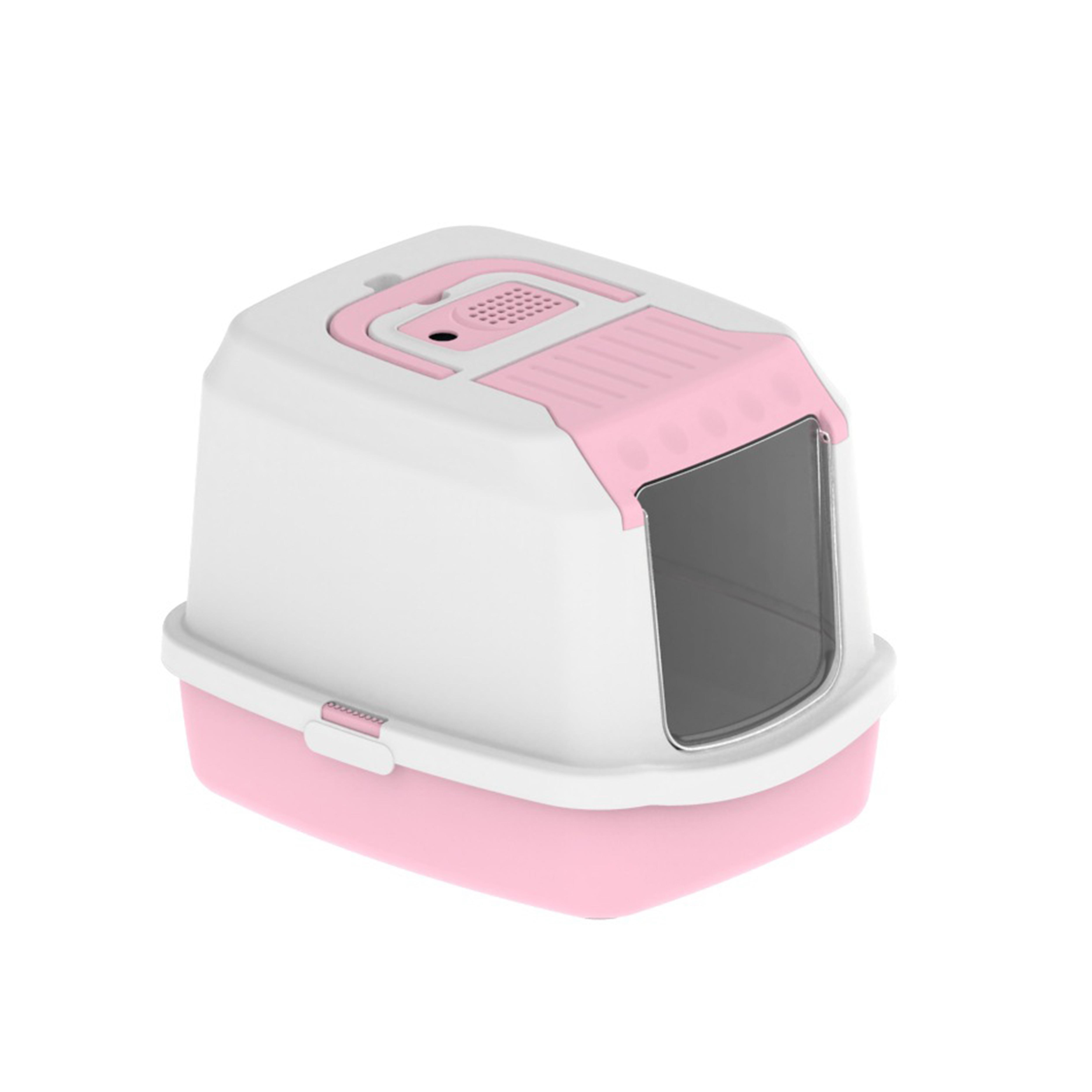 Litière automatique pour chats, boîte à litière en plastique, de couleur blanche, automatique, pour chats