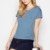 casual cotton custom plain o-neck women t shirts with utility chest pocket