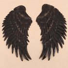 Embroidered Iron Design Patch Embroidery Silk Fabric Embroidery Large Angel Wings Sequins Patches Iron on for Clothing