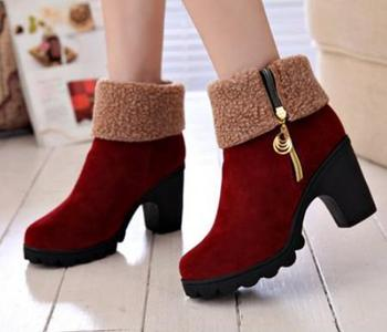 Buy Faux Fur Winter Ankle Snow Boot