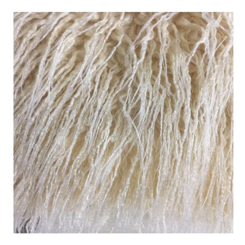 high quality long pile 80mm fake faux artificial curly mongolian lamb fur fabric