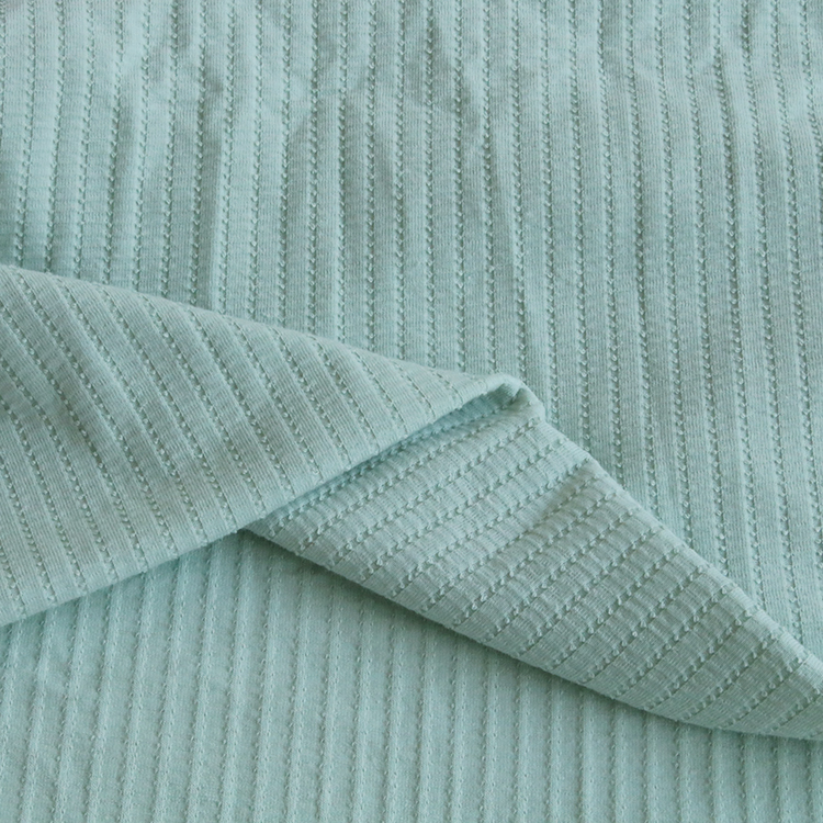 2232# Knitted rib fabric with 58%polyester 32% cotton 10% spandex for thin coat pullover in autumn and winter