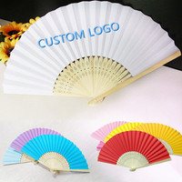 [I Am Your Fans]Hot Sale Pattern Folding Dance Wedding Party gift Elegant Paper Hand fan full color printed Favors