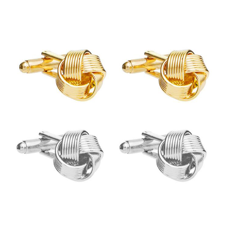 Dongguan factory price <strong>custom</strong> <strong>engraved</strong> bulk stocks silver gold silk knot <strong>cufflinks</strong>