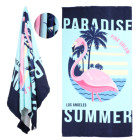 Amazon Hot Selling printed microfiber beach towel custom print beach microfiber towel