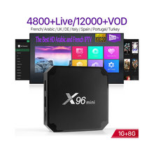 X96 mini Amlogic S905W Quad Core <span class=keywords><strong>TV</strong></span> <span class=keywords><strong>Box</strong></span> 16 GB <span class=keywords><strong>IPTV</strong></span> Abbonamento SUBTV 1 Anno <span class=keywords><strong>IPTV</strong></span> Europa Francese Arabo Belgio germania <span class=keywords><strong>IPTV</strong></span> <span class=keywords><strong>Box</strong></span>