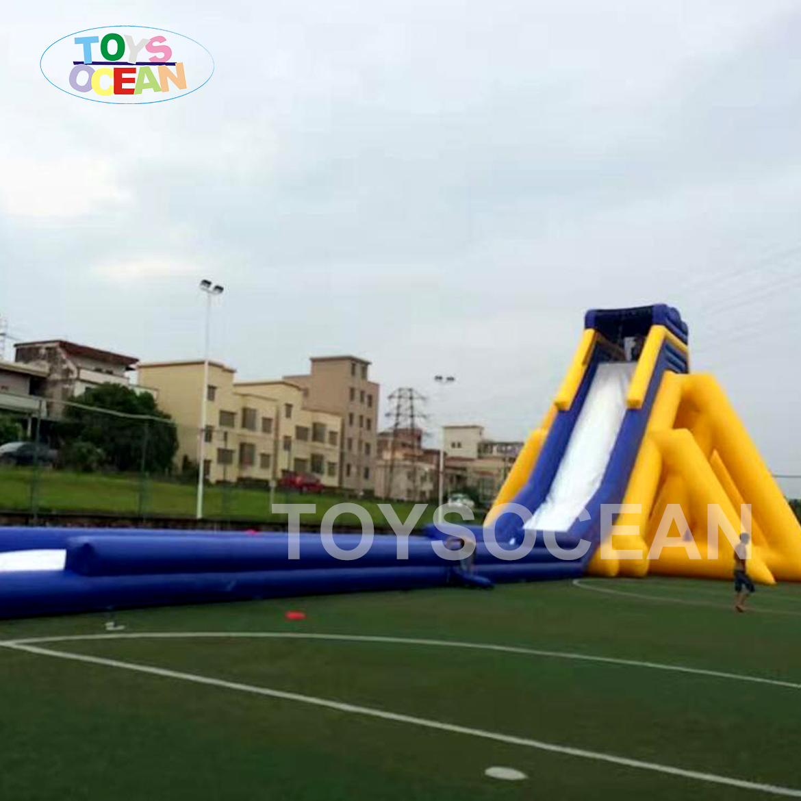 New design large hippo adult inflatable fantasy slide