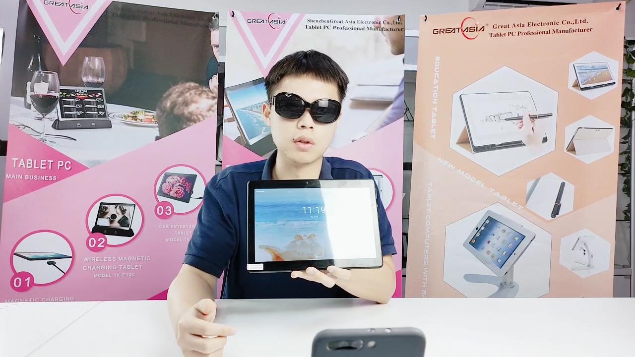 Oem 10インチ4g lte android 8.1タブレットpc mtkクアッドコア2gb 32gb androidタブレットpc、デュアルsimカードスロット