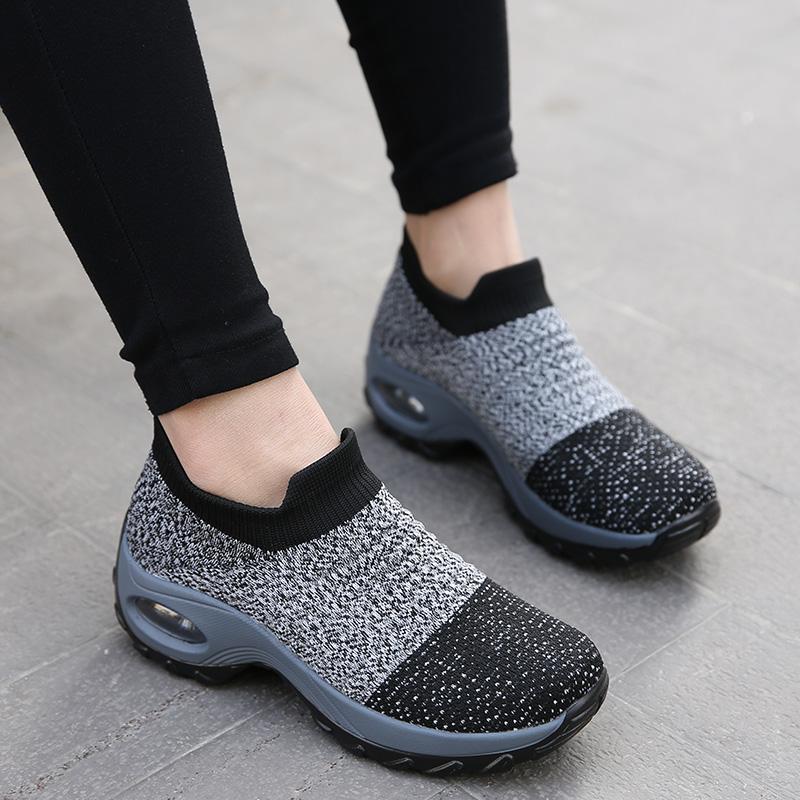 2019 Fashion Korean female Women Sneakers Purple Breathable ladies wedge Casual Shoes Woman Basket Femme Tenis Feminino