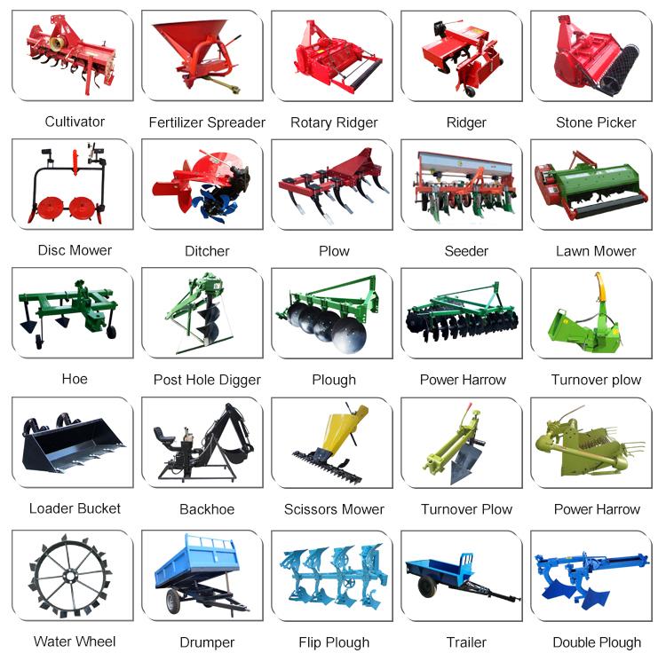 Bauernhof traktoren für landwirtschaft kleine garten walking zugmaschine 2x4 4x4 micro chinese kompakte mini traktor preis mit anhänge