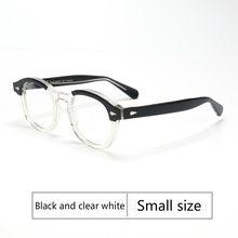 Ретро Круглый Ацетатный синий светильник, очки, оправа для мужчин, прозрачные линзы, очки, фирменный дизайн, очки по рецепту(Китай)