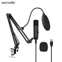 2019 New design BM150UX condenser studio USB microphone recording with reverberation Adjustable Arm stand for Live broadcast