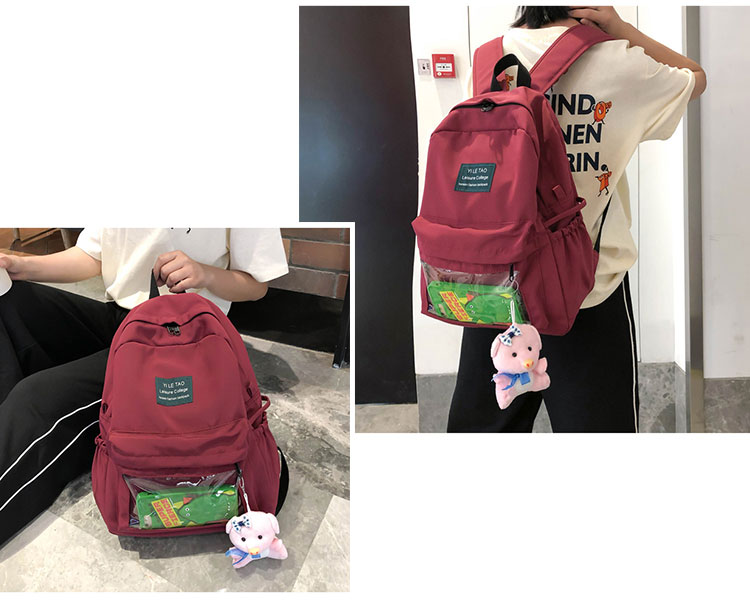 Fashion candy color large schoolbag leisure college bags backpack