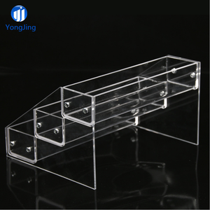 Multi-tiers Retail Store Table Top Nail Polish Bottle Holder 3 Tier Acrylic  Step Shelf Display