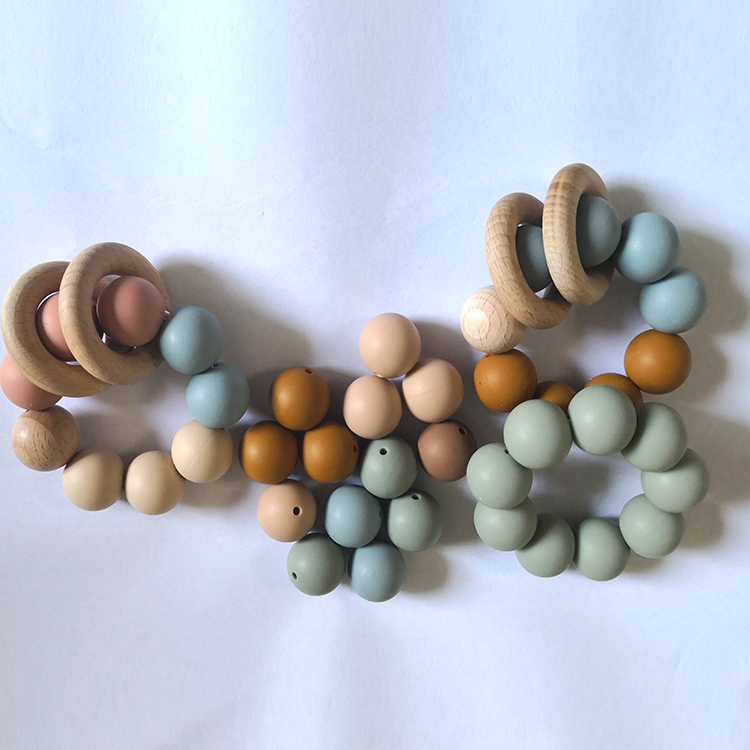20mm Wholesale BPA Free Food Grade Baby Teether Silicon Beads