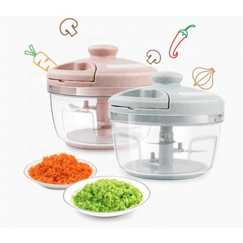 Multi-functional Manual Pull On The Rope Rotating Vegetable Cutter/ Mini Hand Pulling vegetable Fruit Cutting Chopper