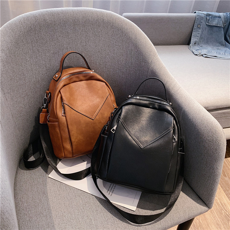 product-GF bags-mochilas Fashion Women Leather Backpack Small PU School Bag Backpack for Teenager Gi-1