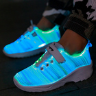 Latest fashion Kids fiber opstical lighting led shoes zapatillas zapatos de led en stock