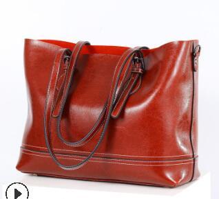 Роскошная мягкая кожаная сумка, винтажные женские сумки-тоут, дизайнерские высококачественные сумки через плечо для женщин, сумка-мессендж...(Китай)