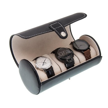 buy wholesale custom vintage quality handmade best 3 leather watch roll  up case for travel
