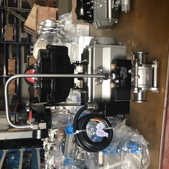 Sanitary Pneumatic 3PC Ball Valve With Pressure Reducing Valve/Limit Switch/Solenoid Valve