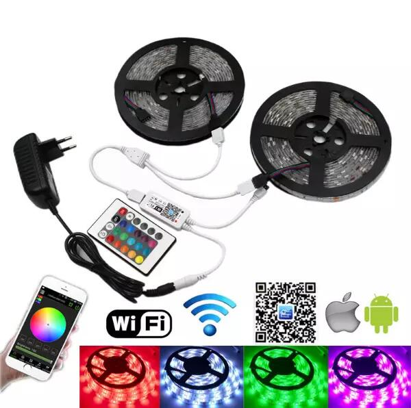 5050SMD RGB LED strips with ip68 5m led strip accessories led strip light for home decoration decors