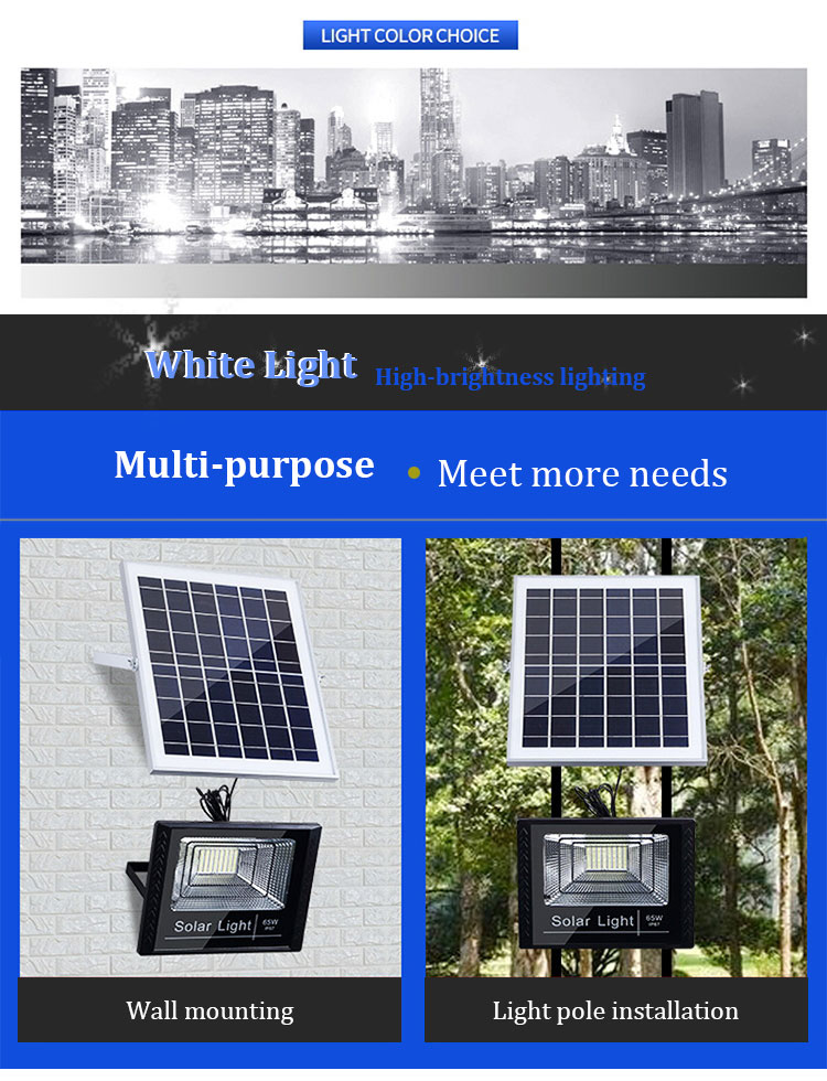 200W Ip67 Outdoor Solar Powered Led Flood Light For Garden Line