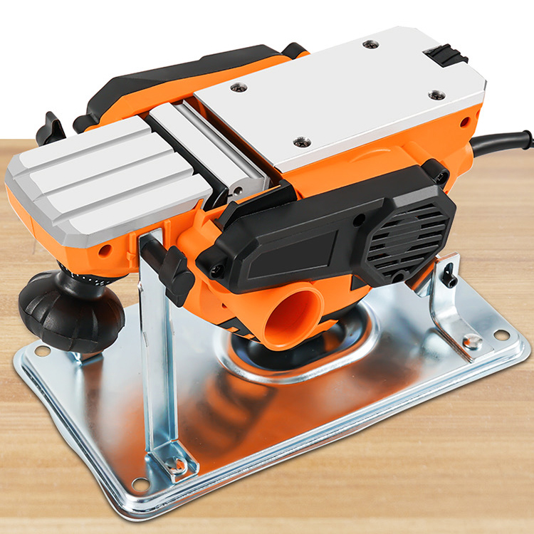 Wholesale 1900W Double Blades Woodworking Electric Planer Hand Free Planing Depth Adjustment Electric Wood Planer