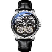 AILANG оригинальные мужские часы с двойным турбийоном, автоматические часы с выемкой машины, мужские светящиеся водонепроницаемые часы 2020, но...(Китай)