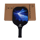 Blue silk with the Quality Rimless Superman Carbon Racket Polymer Honeycomb Core Graphite Pickleball Paddle Carbon Racket