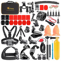 Promotion for Go Pro Accessories Sports Action Camera Accessories Set /Kits /Pack Storage Bag Extreme sport motion Accessories