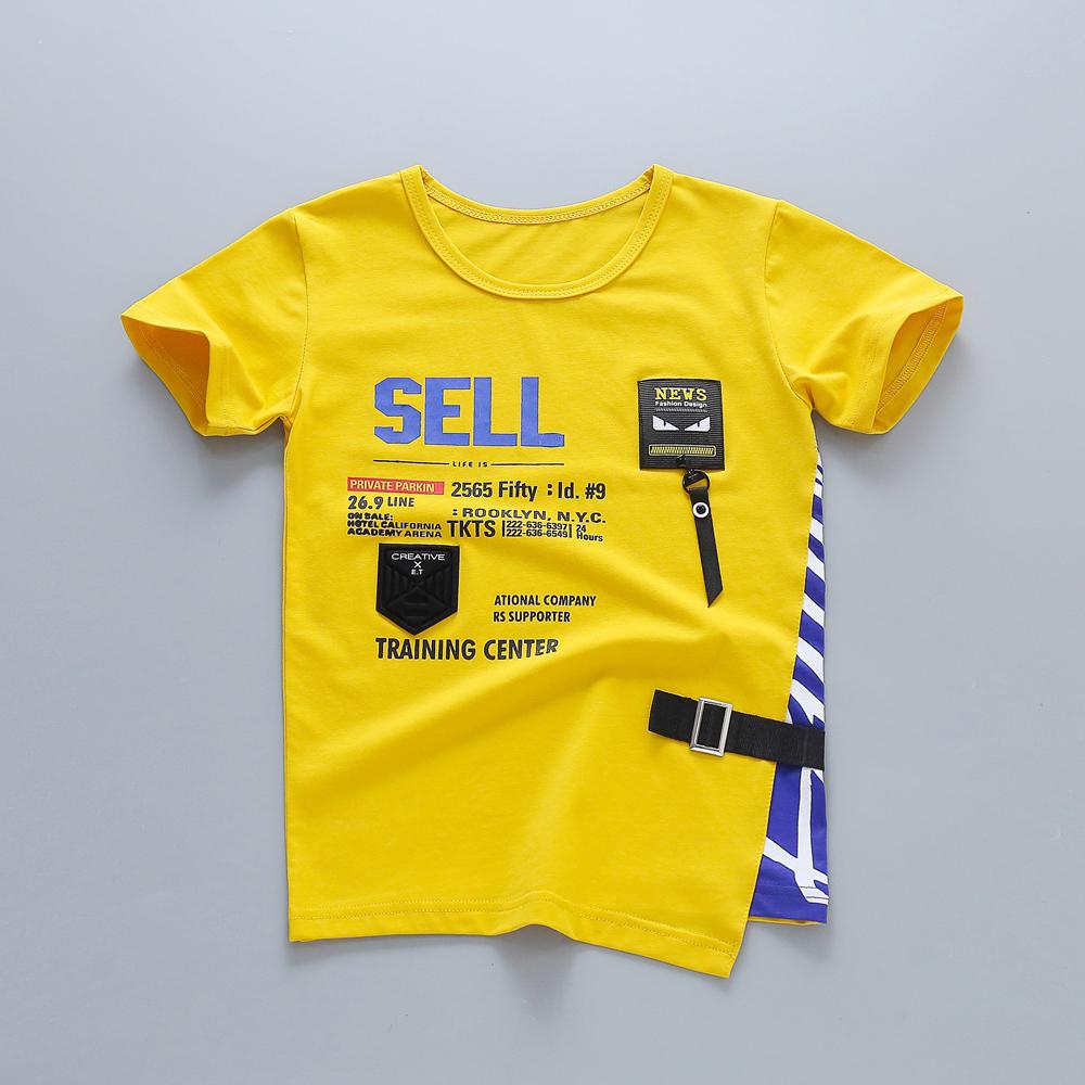 Grosir Desain Baru Hot Menjual Musim Semi Musim Panas Anak-anak T Shirt Boy Olahraga Baju Lengan Pendek
