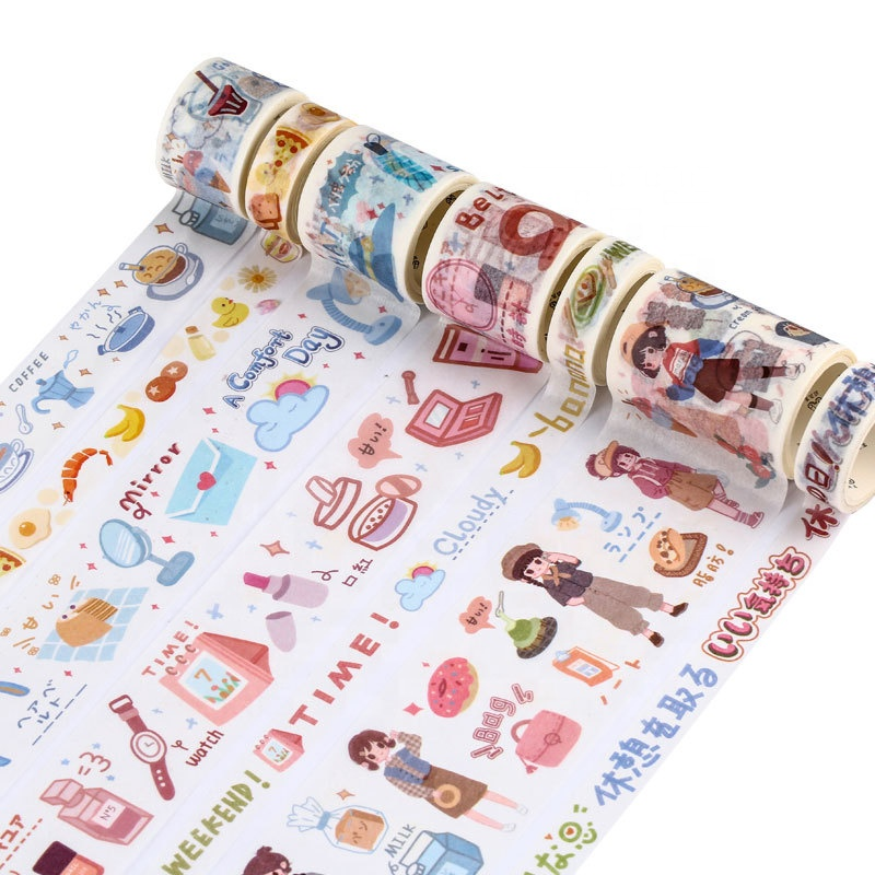 Factory custom colorful DIY printed paper adhesive tapes