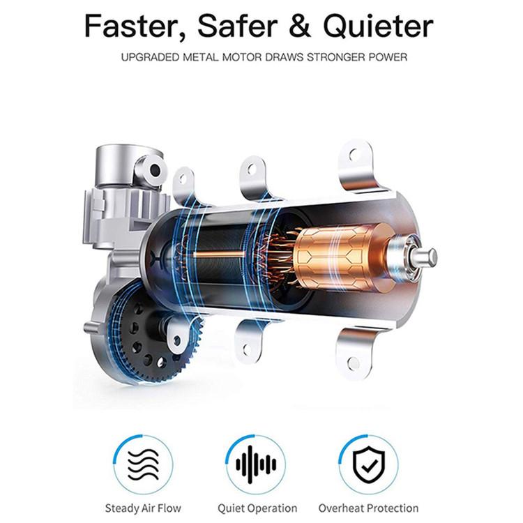 Heavy duty 12v 150PSI portable household car tire air compressor inflator pump with digital pressure gauge emergency flashlight