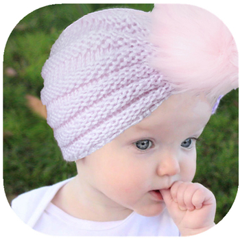 New Autumn Winter Children Warm Wool Hats Baby Ear Muffs American Baby Fur Cap India's Hat