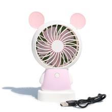 1 шт. портативный Электрический вентилятор для зарядки с персонажами из мультфильмов, кондиционер-охладитель, вентилятор охлаждения для ст...(Китай)