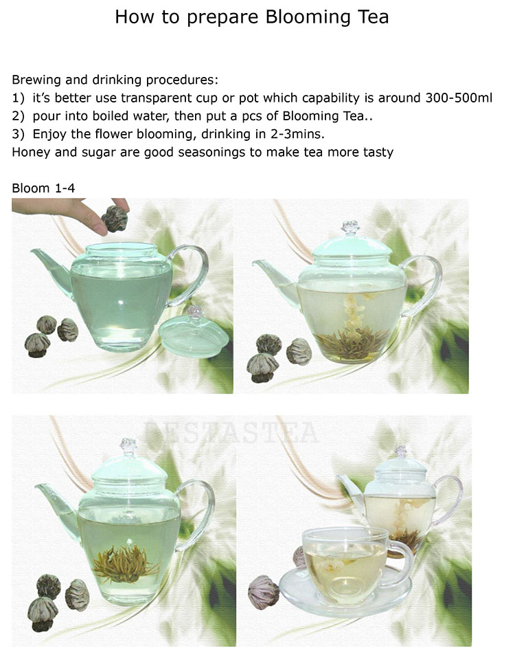 Wholesale Fresh Loose Tea Natural Slimming Marigold Blooming Tea Flowering Tea Balls - 4uTea | 4uTea.com